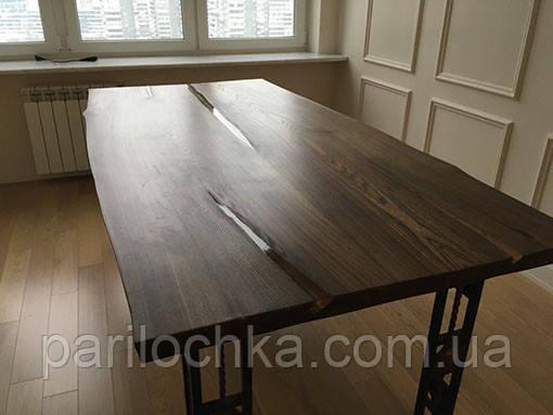 Большой стол из двух слэбов