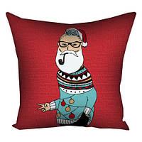 Подушка з принтом Дедушка Мороз (3P_17NG058)