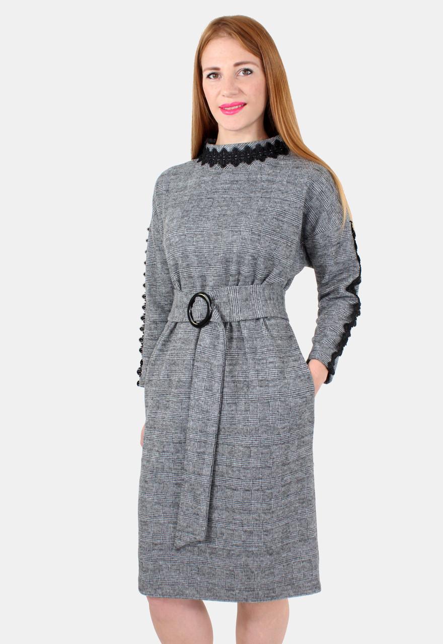 ad59f94cebd Теплое женское платье с поясом 44-50 р - Оптовый интернет-магазин по продаже