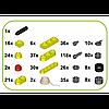 Детский конструктор Kiditec 1217 L-set Showcrane big Yellow 460 деталей (3893), фото 2
