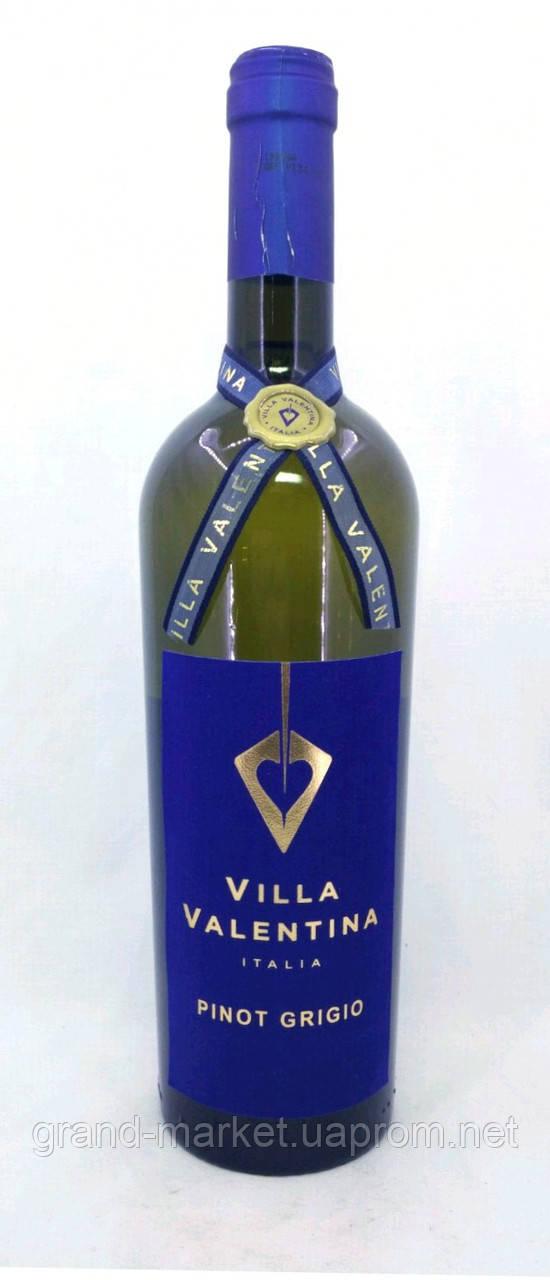 """Вино біле """"Villa Valentina Pinot Grigio Terre Siciliano"""" 2017 0.75 l"""