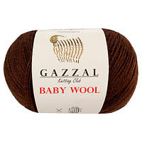 Пряжа из кашемира Gazzal Baby wool 807 коричневый (Газзал Беби вул)