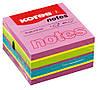 Блок для заметок Kores 75*75 неоновые цвета; самоклеющиеся стикеры