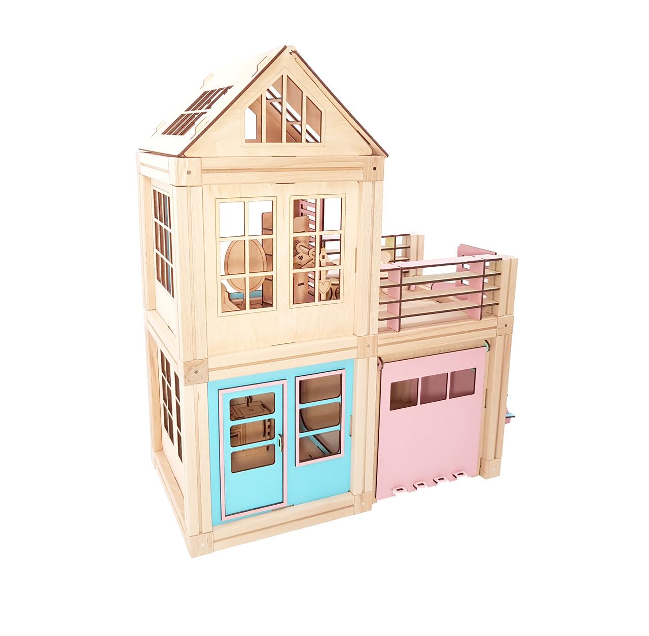 Магнитный деревянный конструктор Woodyco House with garage 98 деталей (77333)