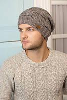 Зимний мужская шапка-колпак «Макс» Темный кофе
