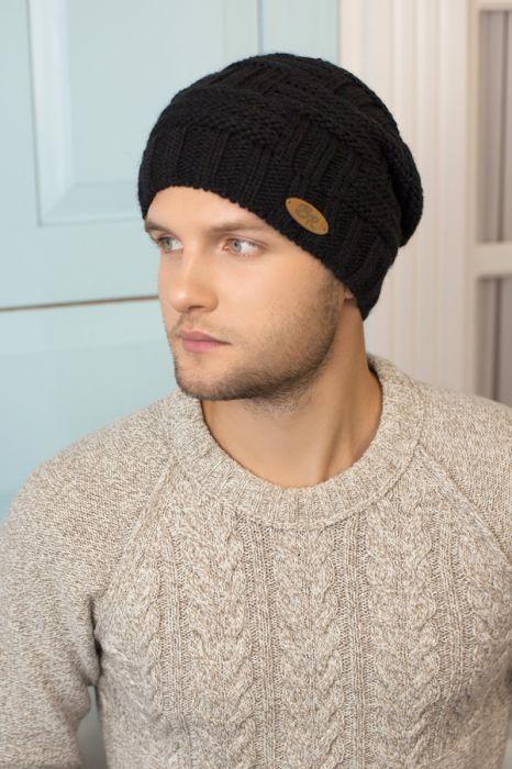 Зимний мужская шапка-колпак «Макс» Черный