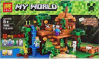 Конструктор Lele серия My World 79282 Домик на дереве в джунглях (аналог Lego Майнкрафт, Minecraft 21125) , фото 1