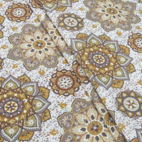 Декоративна тканина, квіти жовто-оранжевий