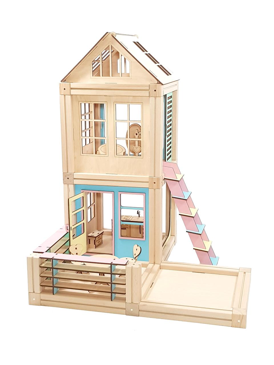 Магнитный деревянный конструктор Woodyco Standart 93 детали (74444)