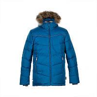 Зимняя куртка - пуховик для мальчика 8-9 лет р. 128-134 MOODY 1 ТМ HUPPA синяя 17470155-80066