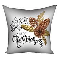 Подушка з принтом Merry Christmas bumps (3P_17NG080)