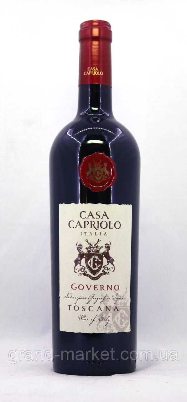 "Вино червоне ""Casa Capriolo Governo Toscana Organic"" 0.75 l"