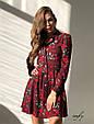Платье-рубашка принт розы р.46, фото 2