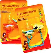 Пустышка латексная ортодонтальная с цепочкой на блистере, арт. 065 - 4 шт