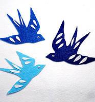 Набор нашивок птицы на карнавальный костюм 3 шт(10х10; 10х8;10х8 см))
