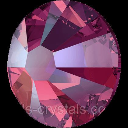 Камни Сваровски клеевые холодной фиксации 2058 Light Siam Shimmer F (227 SHIM)