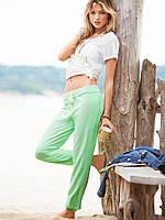 Спортивные штаны Victoria's Secret зелёные