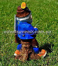 Садовая фигура Гном охотник малый, фото 3