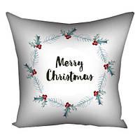 Подушка з принтом Merry Christmas (3P_17NG089)