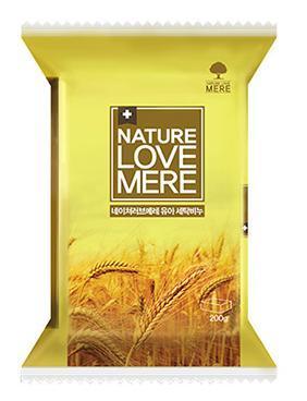 NATURE LOVE MERE - Мыло для стирки детских вещей с экстрактом пшеницы, 200 гр, NLM