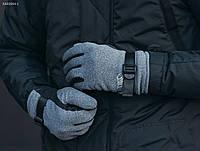 Зимние перчатки Staff softshell gray