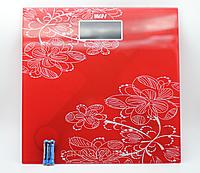 Весы напольные Personal Scale до 180 кг квадратные, красный, фото 1