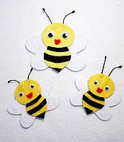 Набор нашивок пчелы на карнавальный костюм 3 шт(6,5х9; 6х5 ;6х5 см)