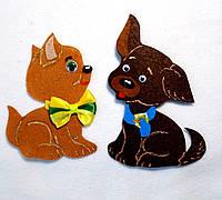 Набор нашивок собачки на карнавальный костюм 2 шт(9х13, 8,5х11 см)
