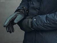 Зимние перчатки Staff softshell dark