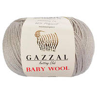 Пряжа из кашемира Gazzal Baby wool 817 светло-серый (Газзал Беби вул)