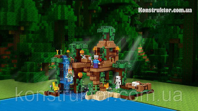 """Конструктор Bela Minecraft 10471 """"Домик на дереве в джунглях"""" купить"""
