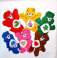 Набор №1 нашивок медведи на карнавальный костюм 6 шт(10х11 см)