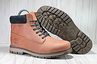 Мужские зимние ботинки натуральный нубук в стиле Timberland