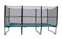 Прямоугольный батут KIDIGO с защитной сеткой + лестница, фото 1
