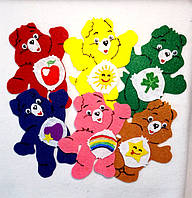 Набор №2 нашивок медведи на карнавальный костюм 6 шт(10х11 см)