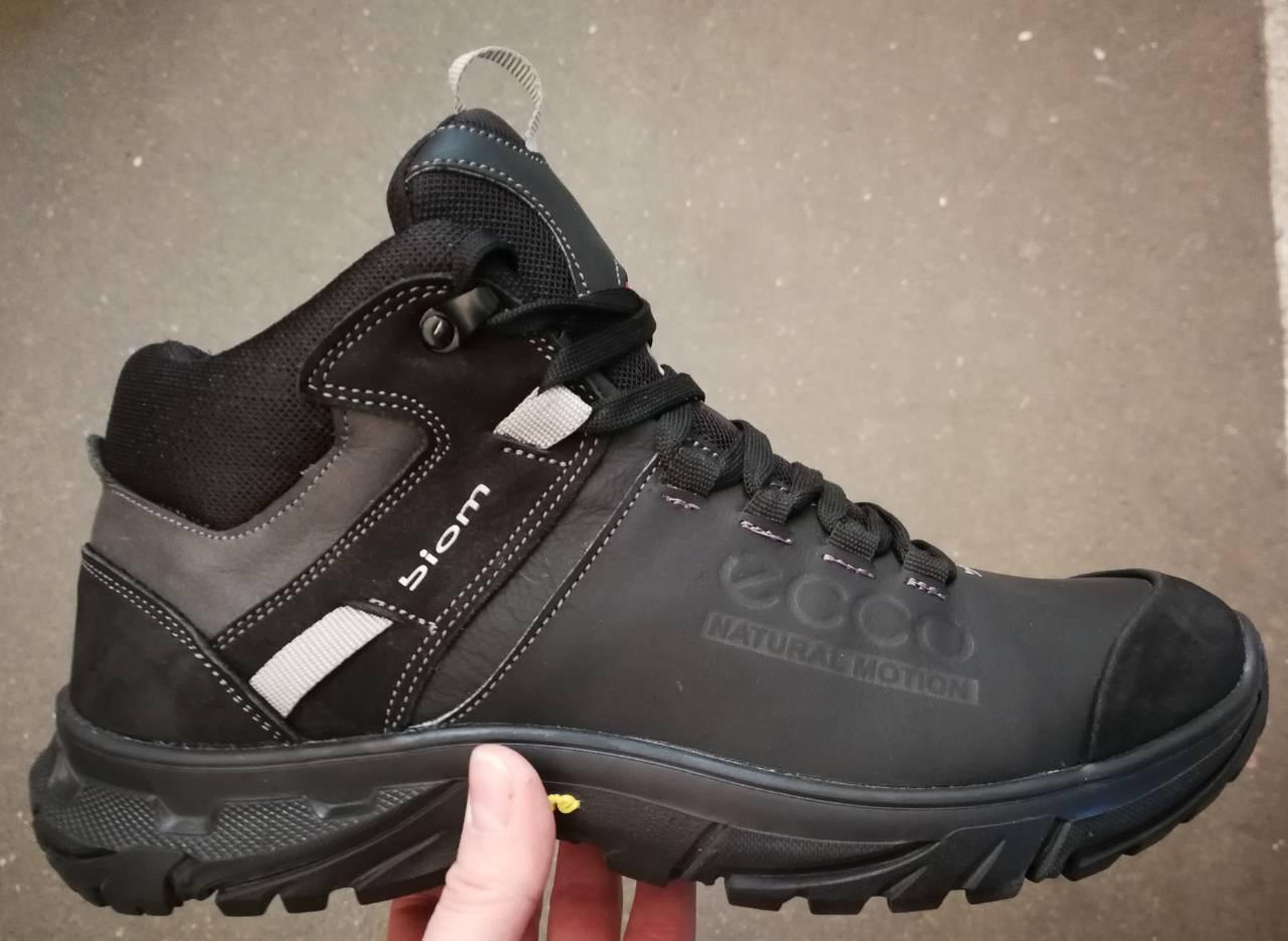 Экко зимние кожаные ботинки из кожи мех Ессо кроссовки коричневые ... caf4dd2a00201