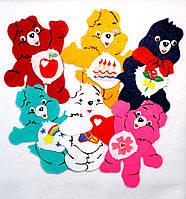 Набор №3 нашивок медведи на карнавальный костюм 6 шт(10х11 см)