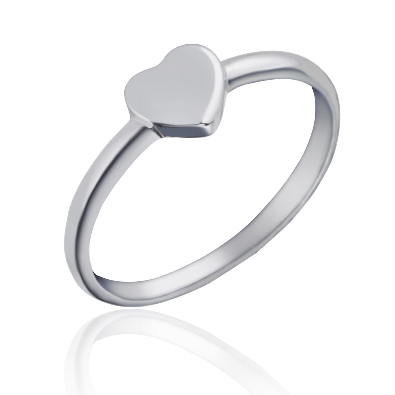 Срібне кільце з сердечком