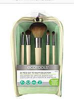 Ecotools набор кистей для макияжа six piece day to night set 5 штук косметичка