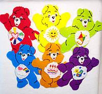 Набор №4 нашивок медведи на карнавальный костюм 6 шт(10х11 см)