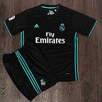 Футбольная форма Реал Мадрид запасная сезон 2017-2018 (черная)