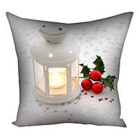 Подушка з принтом Новорічна лампадка (3P_NGNAS109)