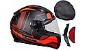 Мотошлем Ls2 FF353 Rapid Carrera (Matt Black Red) AK3212, фото 2