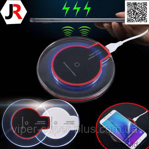 Беспроводная зарядка JAKCOMBER YC-05 (QI) на телефон с USB с мини портом и стильным прозрачным  дизайном