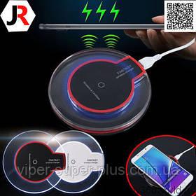 Беспроводная зарядкаJAKCOMBER YC-05 (QI) на телефон с USBс мини портом и стильным прозрачным дизайном