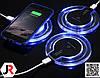 Беспроводная зарядка JAKCOMBER YC-05 (QI) на телефон с USB с мини портом и стильным прозрачным  дизайном , фото 3