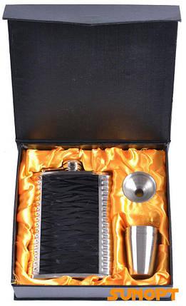 Подарунковий набір з флягою для чоловіків (Шкіра) №TZ-51-6, фото 2