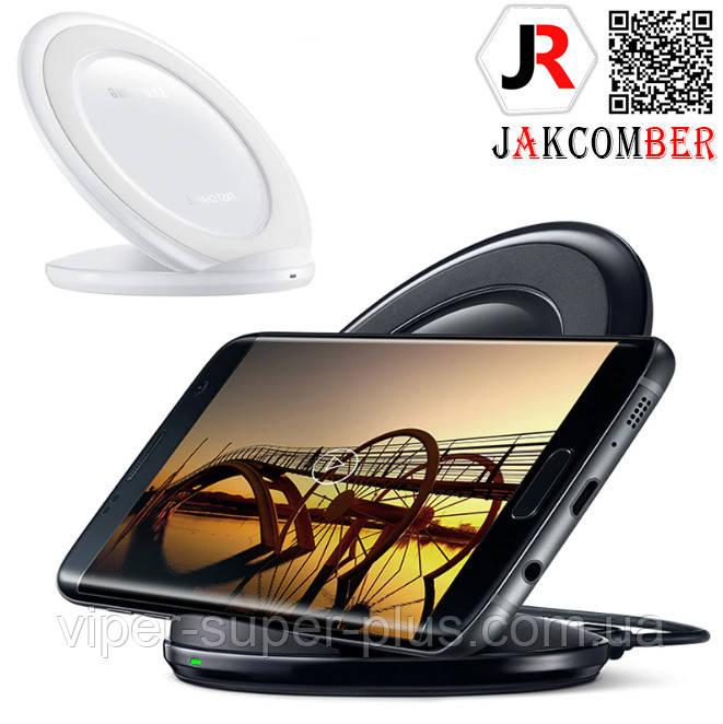 Бездротова зарядка JAKCOMBER YC-09 на телефон з USB з міні портом - док станція белог кольору