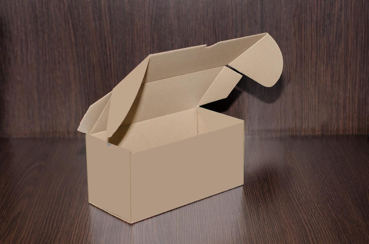 Картонна коробка, самозбираюча, бура 21х10х10 см (від 50шт)