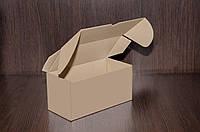 Картонна коробка, самозбираюча, бура 21х10х10 см (від 50шт), фото 1